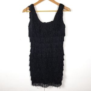 Vintage Roberta | Black Fringe Flapper Mini Dress